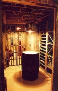 Micro winery --all hand built by Jeff, in his basement